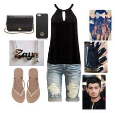 Movies with Zayn by harrystylesandliampayne on Polyvore featuring polyvore, beauty, Tory Burch, Chanel, Forever New, Arden B. and Havaianas