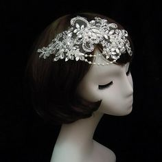 Gorgeous Lace With Pearl/Rhinestone Women's Headbands – USD $ 10.19_For Daughter's Dress Ensamble