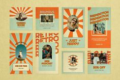 Poster Design Layout, Graphic Design Layouts, Graphic Design Posters, Graphic Design Typography, Graphic Design Illustration, Instagram Feed Layout, Instagram Design, Estilo Retro, Photoshop