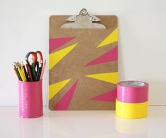 Decorate your clip board with decorative tape