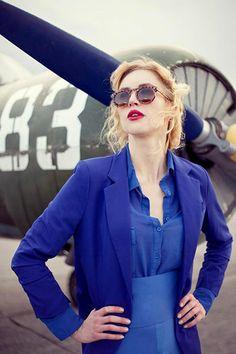 Model: Lara Lill Photographer: Rachel Martin Art Director: William Santiago Stylist/MUA/Hair: Baille Younkman Airplane provided by: Wayne Altman Watch The Lills Aviation Video: youtu.be/cKPqCHDuagY