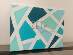 Zeta tau alpha painted canvas