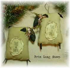 Grubby Primitive Christmas Long Sheep Bowl by harvestmoonprims