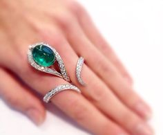 Scavia Emerald ring, just an incredible design~ - Seduction Way