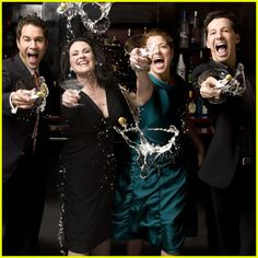 Will and Grace: Will Truman, Grace Adler, Karen Walker, Jack Macfarland.