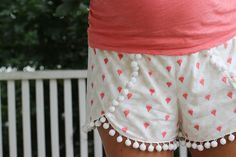 I made these Coachella Shorts out of KNIT from my Happy Home fabric collection and didn't alter the pattern sizing at all because I wanted them to drape...