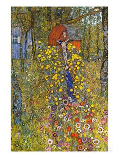 Farmers Garden with Crucifix Prints by Gustav Klimt at AllPosters.com