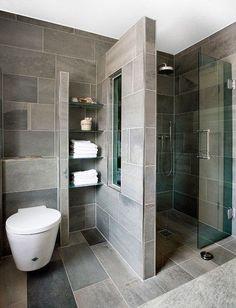 65 Stunning Contemporary Bathroom Design Ideas To Inspire Your Next Renovation - Gravetics #ContemporaryInteriorDesignbathroom