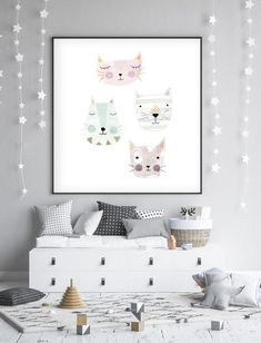 Awesome 32 Sophisticated Kids Room Design Ideas With Pastel Color To Have Asap Baby Room Colors, Baby Boy Room Decor, Baby Boy Rooms, Kids Room Art, Kids Room Design, Child Room, Baby Prints, Wall Art Prints, Baby Dekor