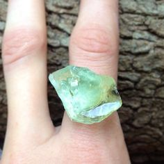Aventurine Crystal Ring. $20.00, via Etsy.