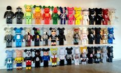 """40 very rare 1000% be@rbrick vinyl toy figures are currently on display at  Guy Hepner gallery located at:  300 N Robertson Blvd. West Hollywood, CA 90048  (310) 979 – 0011""-benballer"