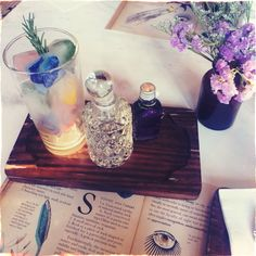 """Wild Gardenia —Magic (of marketing) makes customers experience in term of how they present product on """"Sparkling Apothecary""""   just lavender  + soda + ice cubes of mint/ strawberry / butterfly pea / mango (fruit & floral )"""