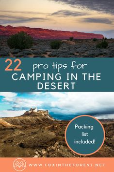 22 camping hacks for the desert. How to camp in the desert. Car camping tips for the American Southwest. Tips for tent camping in the desert. Camping tips for couples Camping Ideas, Camping Hacks, Camping Essentials List, Camping Diy, Camping Packing, Winter Camping, Camping Checklist, Beach Camping, Camping With Kids