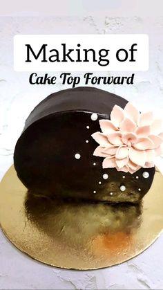 Cake Decorating Frosting, Cake Decorating Designs, Cake Decorating Videos, Birthday Cake Decorating, Cake Decorating Techniques, Beautiful Cake Designs, Cool Cake Designs, Cooker Cake, Chocolate Dishes