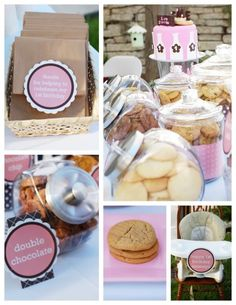 Love the idea of having a cookie bar instead of a candy bar as a favor. Very unique!