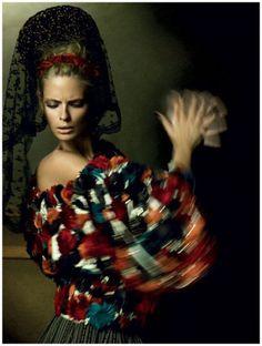 Julia Stegner by Alexi Lubomirski for Vogue Germany, December 2008.