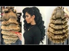 Beautiful Waves With Vintage Hollywood Touch - YouTube
