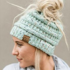 74f0be3e2fd35 Ponytail Messy Bun Beanie Knitted Winter Hat - BNB Beanietail