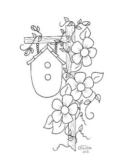 Coloring page turn embroidery. Applique Patterns, Embroidery Applique, Embroidery Stitches, Embroidery Designs, Broderie Primitive, Tole Painting, Coloring Book Pages, Digi Stamps, Quilts