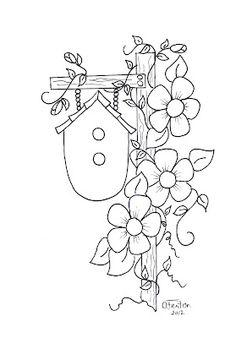 Birdhouse and vine