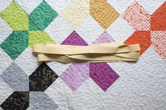 How to Bind a Quilt using Double Fold Binding ~ We All Sew