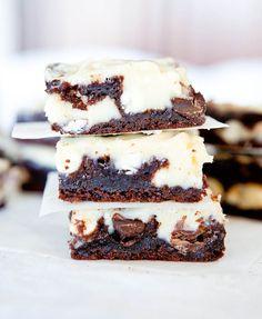 White chocolate brownie bars