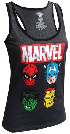 Marvel Women's Avengers Distressed Tank Top
