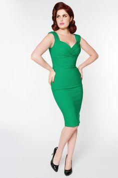 50s Erin Dress in Lucky Green