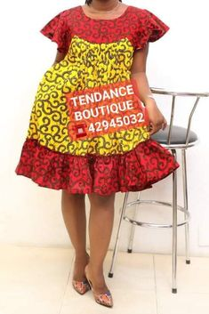 Short African Dresses, African Print Dresses, African Wear, African Fashion Dresses, Fashion Outfits, Africa Dress, African Design, Ankara Styles, Kitenge