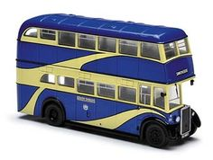 This Crossley DD42 Diecast Model Bus is Blue and Cream and features working wheels. It is made by Corgi and is 1:76 scale (approx. 10cm / 3.9in long). The South Shields Tramways Co started operating horse drawn trams on corporation owned tracks in 1883, only to close three years later. The South Shields Tramways and Carriage Co restarted the service in 1887 with horse buses but sold out to the British Electric Traction Co in 1899. The fleet reached a total of 60 before closures commenced...