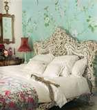 Shabby chic style white bedroom set