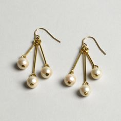 Vintage Faux Pearl Drop Earrings