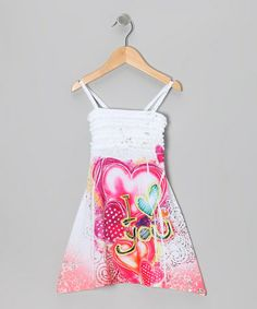 Take a look at this Pink I Love You Sublimation Dress - Toddler & Girls by Happy Kids for Kids on #zulily today!