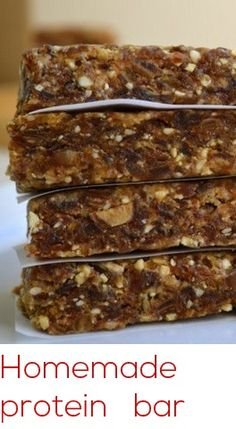 Homemade Protein Bars - PositiveFoodie
