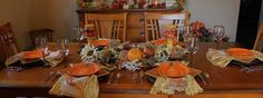 Southern Seazons: Pumpkins in the dining room