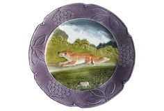 Majolica Fox Wall Platter