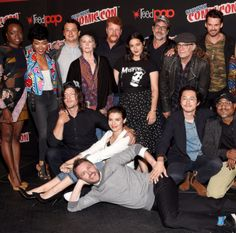 """The cast of The Walking Dead at AMC presents 'The Walking Dead' at New York Comic Con on October 8, 2016 in New York City """