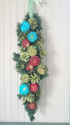 Robyn's door pine cone wreath