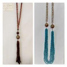 Collares de Mostacilla y cadena Tassel Necklace, Casual, Jewelry, Fashion, Chains, Moda, Jewlery, Jewerly, Fashion Styles