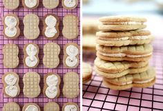 If you're a peanut butter fan like me, you've eaten your fair share of Nutter Butter cookies. Crispy peanut butter wafers filled with a peanut butter creme center. Almond Recipes, Low Carb Recipes, Bar Recipes, Nutter Butter Cookies, American Desserts, Classic Desserts, Shaped Cookie, Creamy Peanut Butter, Sandwich Cookies