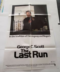 The Last Run 1971 Original Movie Poster One Sheet x George C Scott Original Movie Posters, Surface, Cards Against Humanity, Art Prints, Writing, The Originals, Tape, Things To Sell, Ebay