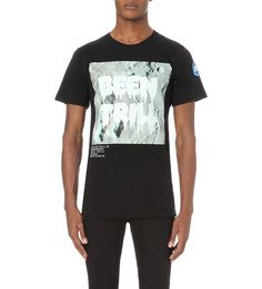 BEEN TRILL Moon-print cotton-jersey t-shirt