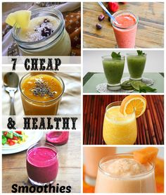 7 Cheap & Healthy Smoothies that you can whip up at home in no time. #smoothie #healthy