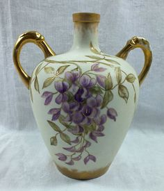Beautiful Antique KTK Porcelain Ladies' Double Handled Whiskey Jug Hand Painted | eBay