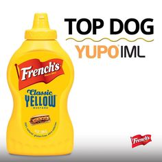 Only the BEST use YUPO to make their package stand out! #DoitonYUPO #FrenchsMustard #print #packaging #label #design