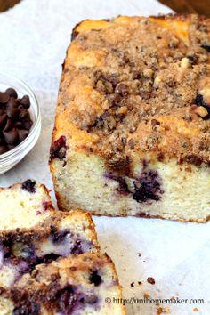 Blueberry Chocolate Streusel Bread