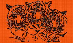 tigers - lagrangeauxloups - large embroidery