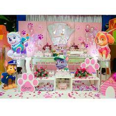Imagem relacionada Paw Patrol Birthday Girl, Paw Patrol Party, Birthday Party At Park, 4th Birthday Parties, Birthday Ideas, Paw Patrol Decorations, Unicorn Party, Ideas Originales, Ideas Para