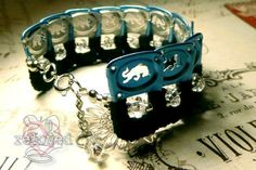 Upcycle jewelry Blue Red Bull pull tab Bracelet by BReloved