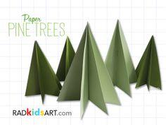 Paper Pine Trees, RADkidsart